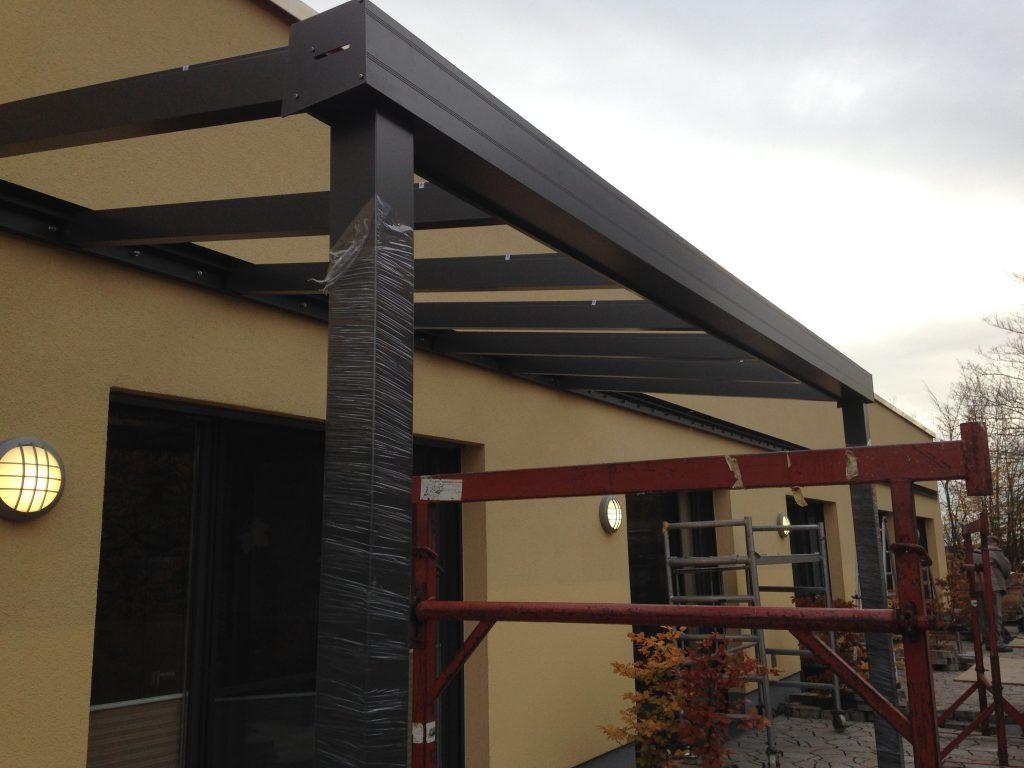 Hospiz Salzgitter Baufortschritte Terrassenüberdachung