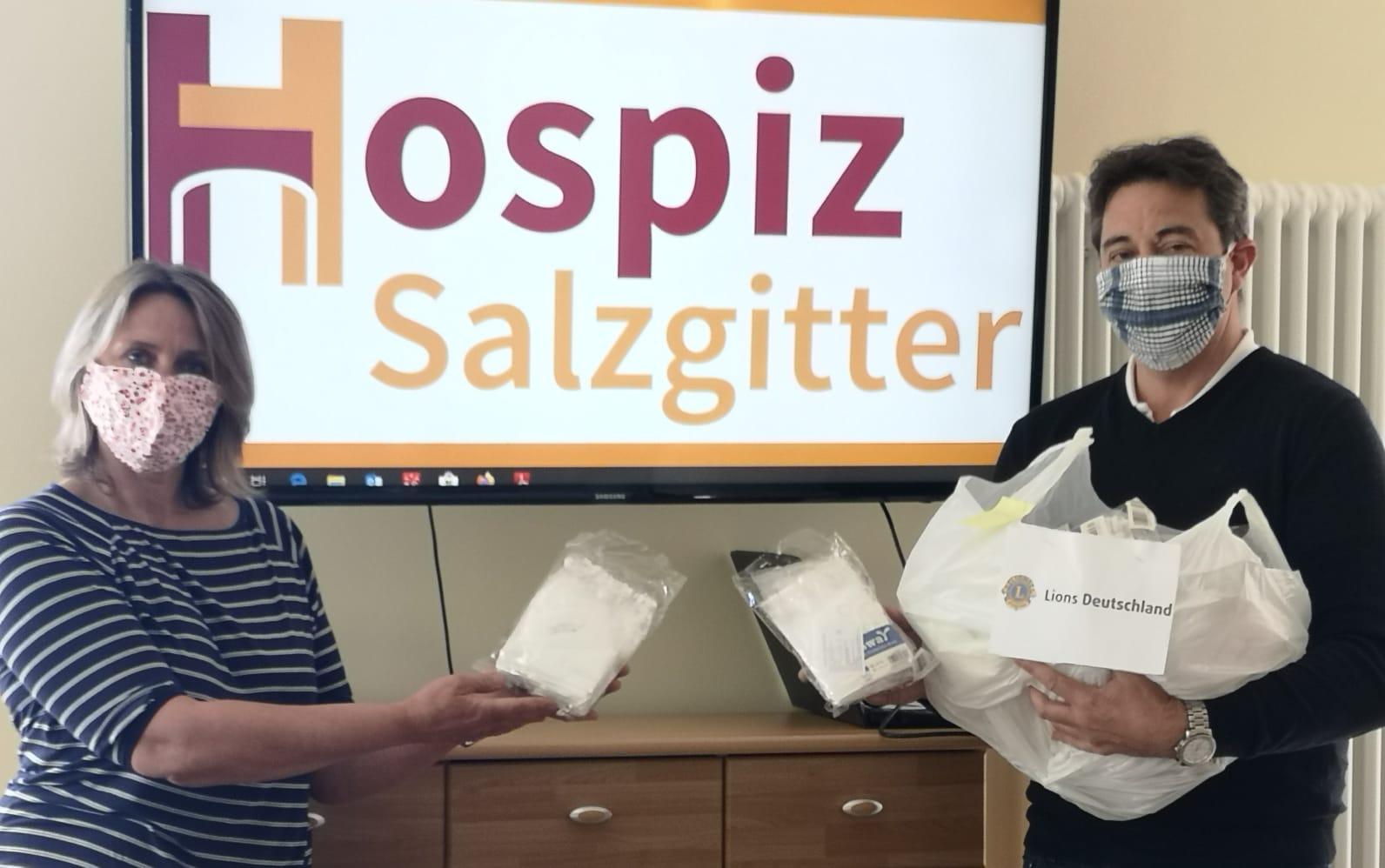 Hospiz Salzgitter - Spende Masken